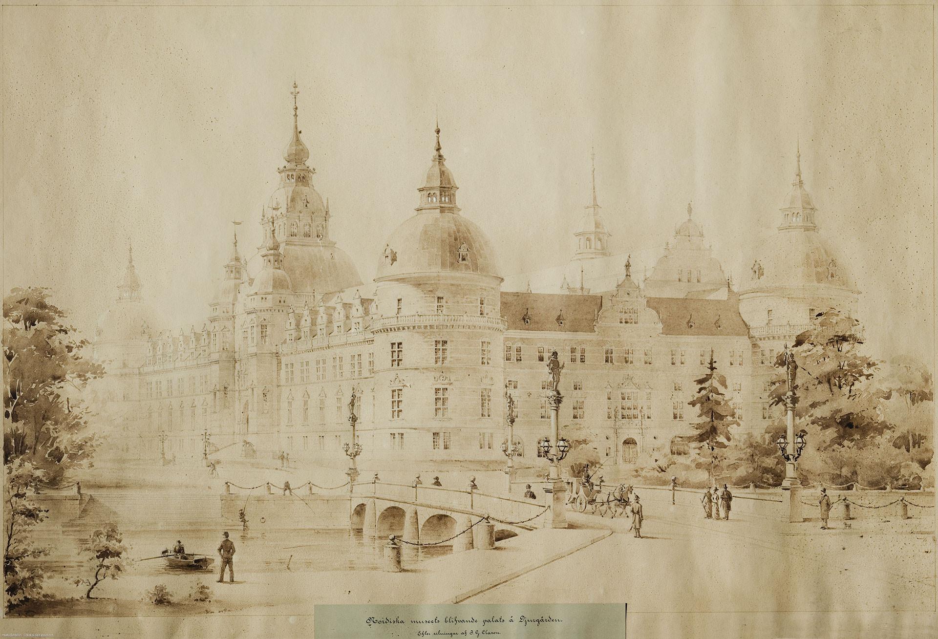 det första förslaget; en gigantisk borg som skulle bli fyra gånger så stor som den slutliga byggnaden