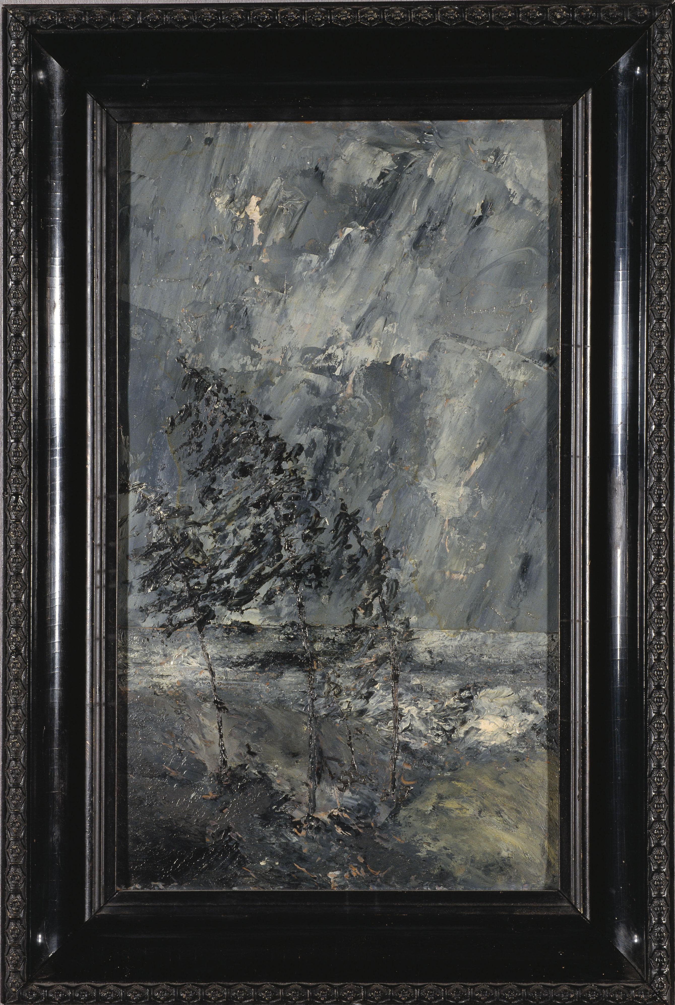 Tavlan Oväder målad av August Strindberg 1892 på Dalarö.
