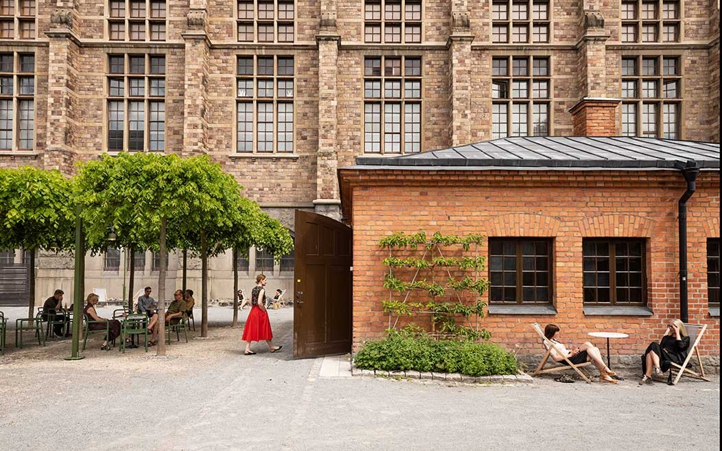 Tegelbyggnaden Lusknäppen sommaren 2020. Foto: Helena Bonnevier/Nordiska museet