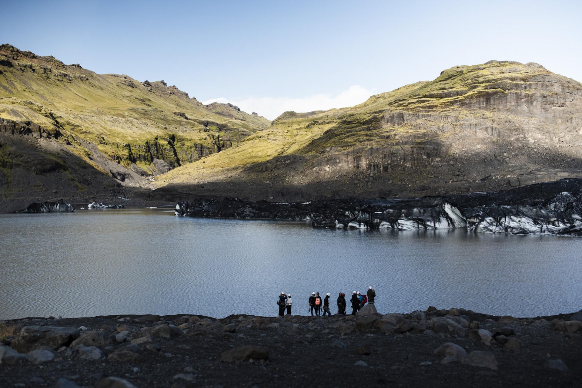 Sjö och berg i Vatnajökull, Island. Foto: Camilla Andersen/ Nordiska museet