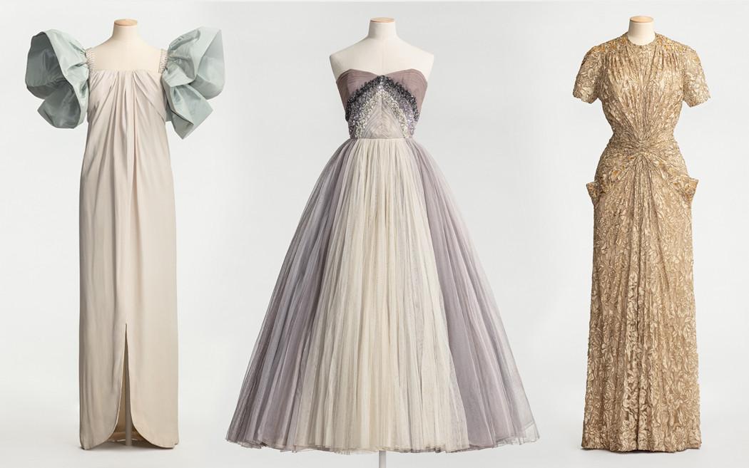 tre klänningar på provdockor
