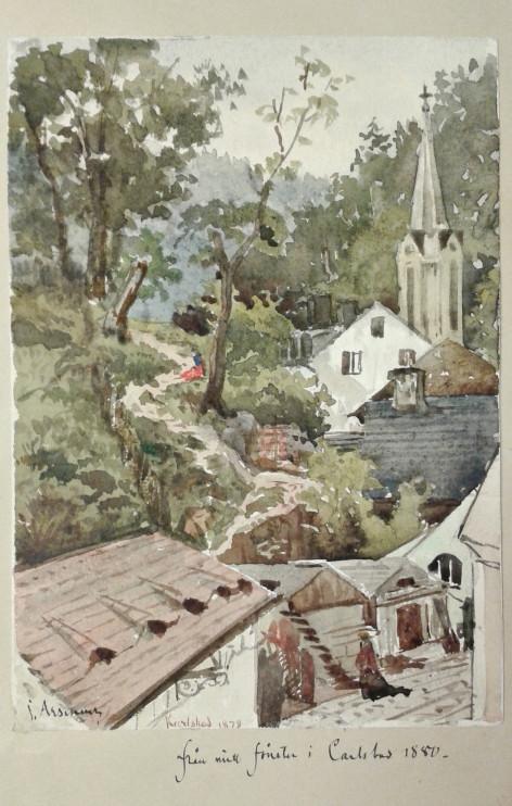 """Akvarell av John Arsenius ur """"Skissbok nr 2"""". Ämnessamlingen, Skissböcker 43.3_1"""
