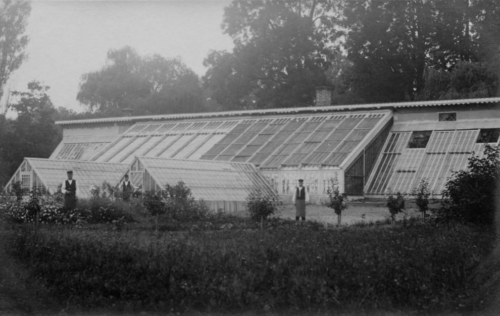 Gammalt växthus på Julita gård