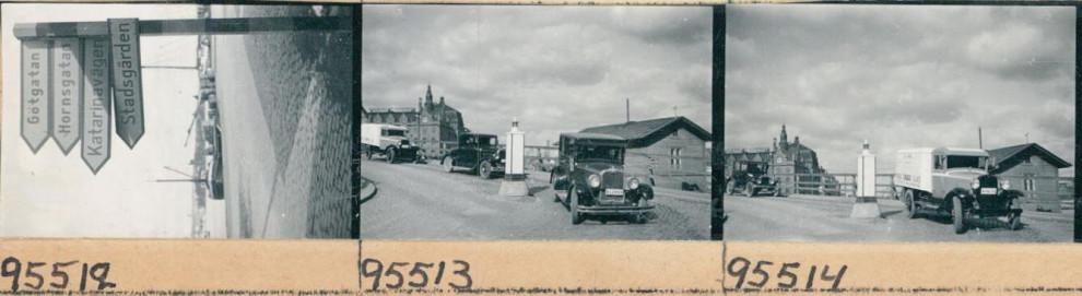 Också vardagstrafiken finns på bild. Slussen, 1933