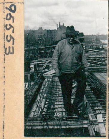 Byggarbetare vid Slussen, 1933