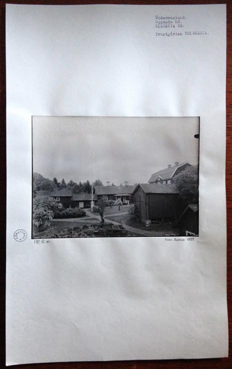 Trinkesta prästgård, Blacksta socken, Södermanland, Strängnäs stift. Foto: Nils Åzelius, Nordiska museet 1927