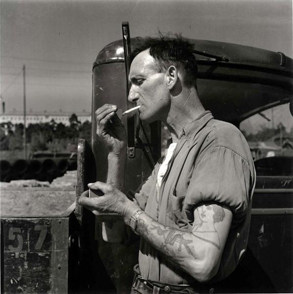 Lastbilschaufför, Stockholm 1946. Foto: KW Gullers