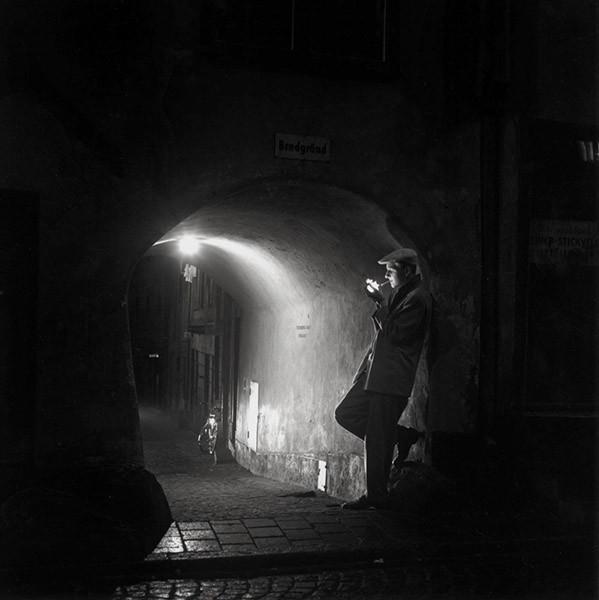 Bredgränd, Gamla Stan, Stockholm 1946. Foto: KW Gullers