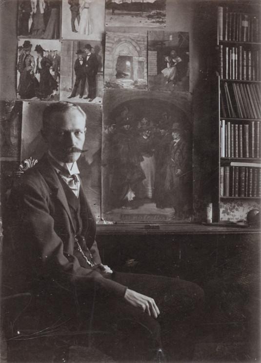 Erik Tryggelin: Självporträtt daterat 24 november 1901