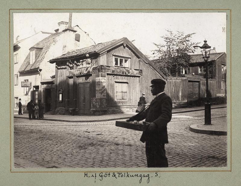 Korsningen Götgatan/Folkungagatan, Stockholm 23 september 1900