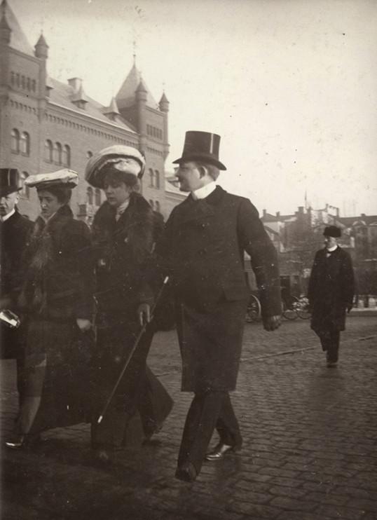 Strandvägen, Stockholm 23 februari 1902