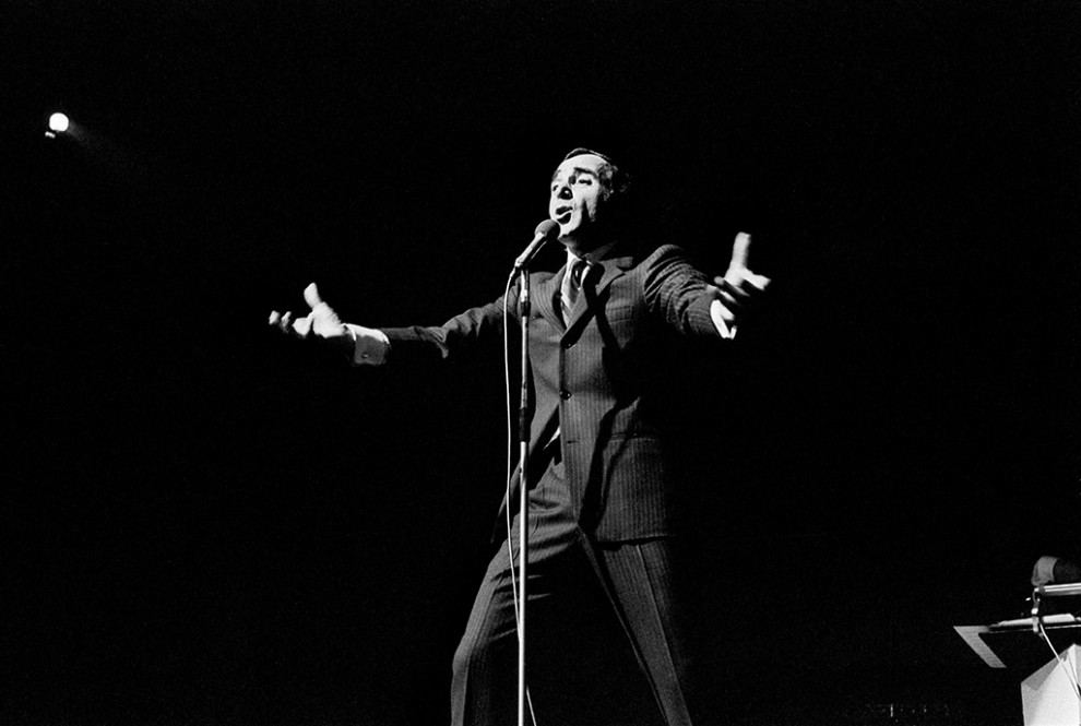 Charles Aznavour på Berns, november 1968