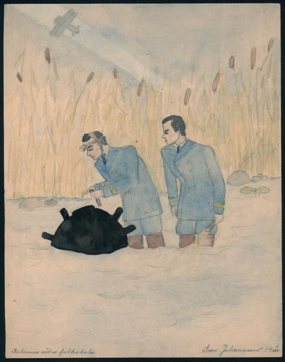 Teckning av Sune Johansson, 14 år, Katarina södra folkskola