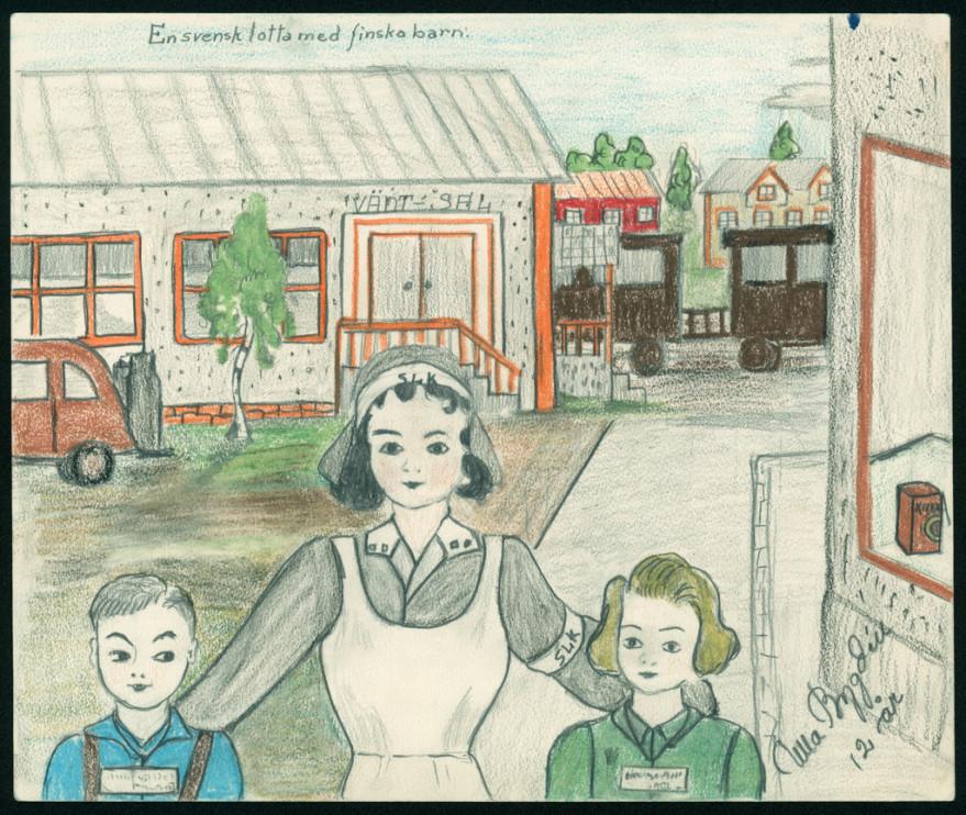 Teckning av Ulla Bygdén, 12 år