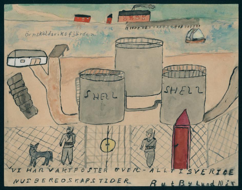 Teckning av Rut Bylund, 10 år