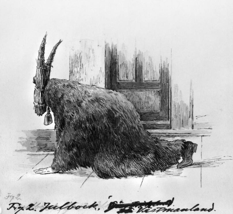 Julbocken. Nordiska museets arkiv.