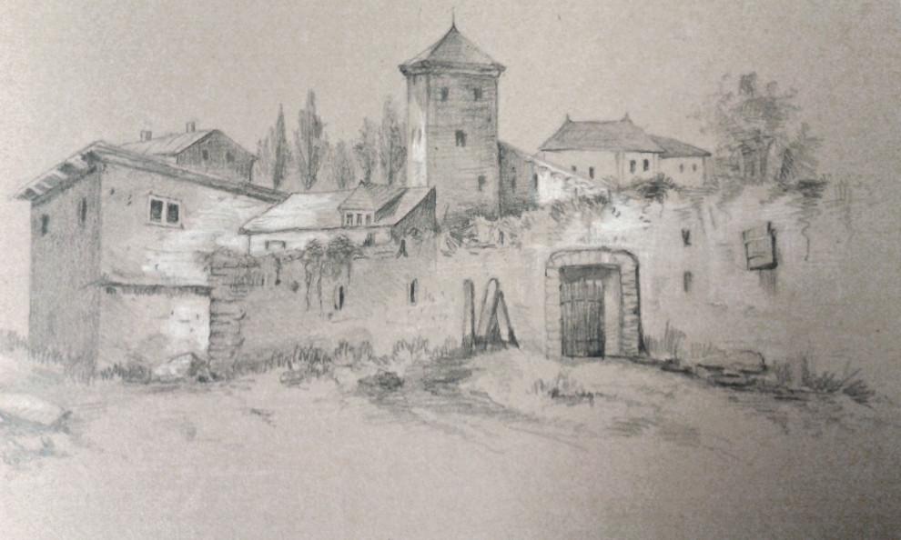 Skiss av Ida Benedicks, Ämnessamlingen, Skissböcker 43.4_1