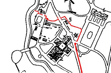 Turistkarta från 1935. Staketets sträckning vid tiden är markerat i rött. Julita gårds arkiv.