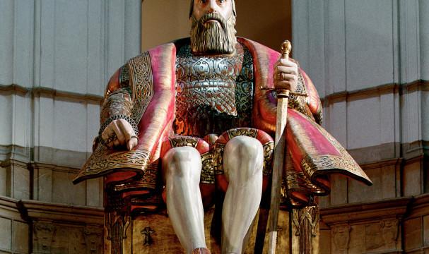 Foto av den nuvarande statyn