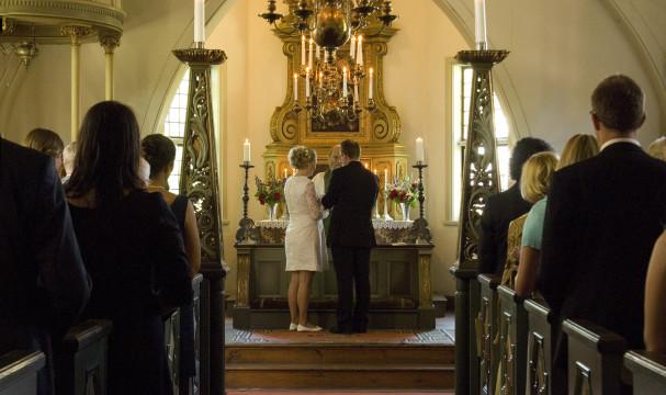 Vigsel i Skansenkyrkan
