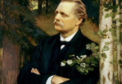 Porträtt av Artur Hazelius målat av Julius Kronberg. Foto: Mats Landin, © Nordiska museet