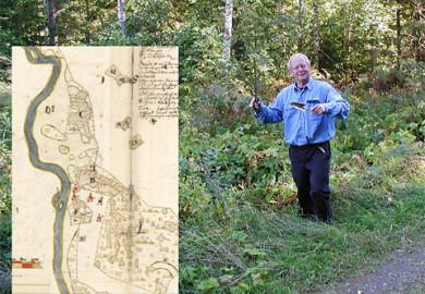 Karta över Julita. Foto: Else-Marie Karlsson Strese, © Nordiska museet