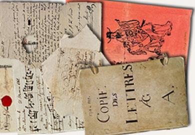 Bild på arkivalier ur Ostindiska kompaniets arkiv