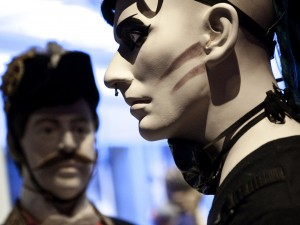 Cybergothare i utställningen Modemakt. Foto Mats Landin