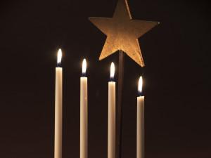 Ljusstake med stjärna