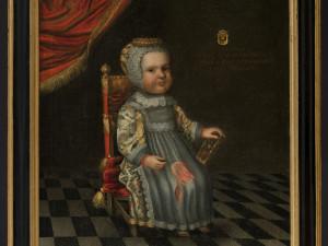 Oljemålning, ca 1650. Föreställer Helena Horn (1647-1648). Foto: Peter Segemark, Nordiska museet.
