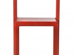 Stol NON 2000. Formgjuten gummistol med stålstomme, Källemo. Utställningens yngsta stol. Foto: Peter Segemark, Nordiska museet.